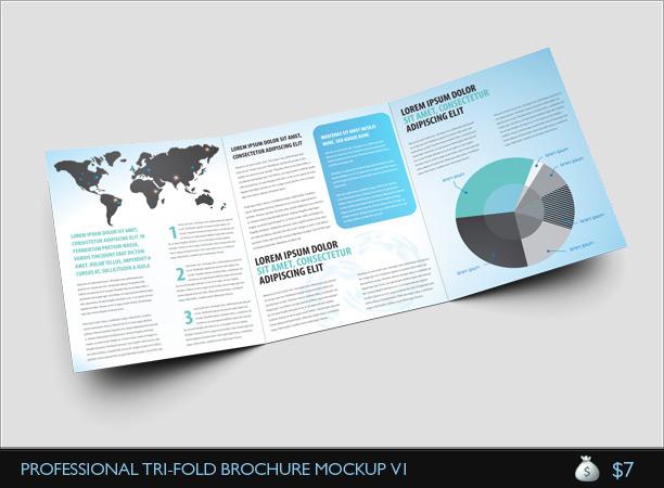 A Gatefold Brochure Mockup  ThemestackNet