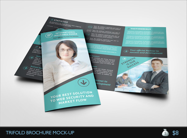 A4 Gatefold Brochure Mockup – Gate Fold Brochure Mockup