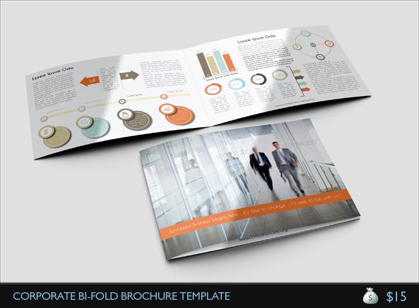 Corporate Bi Fold Brochure Template jpg