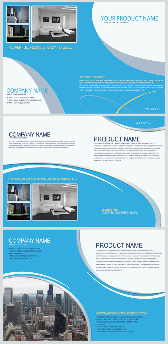 product brochure template .