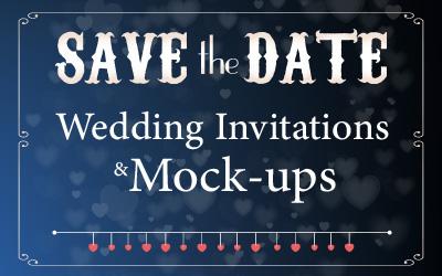 Wedding invitations & Mock-ups