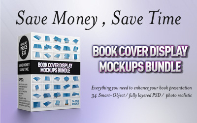 Book cover display bundle
