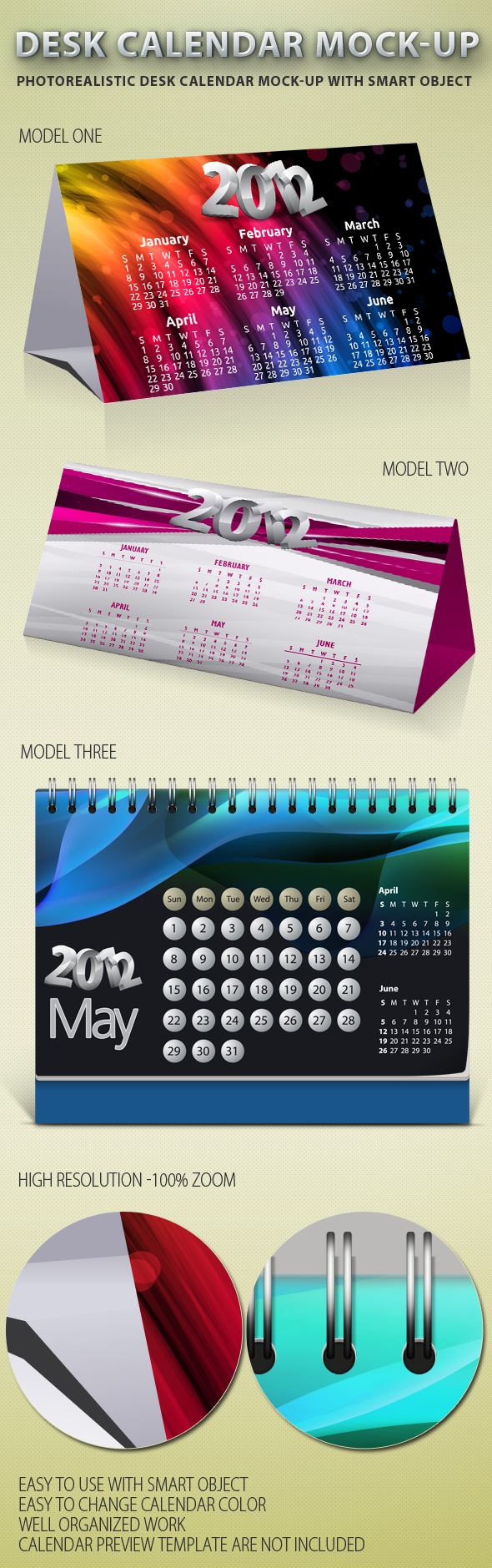 Table Calendar Mockup : Desk calendar mock up idesignstudio