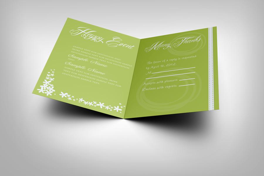 Invitation And Greeting Card Mockup V1