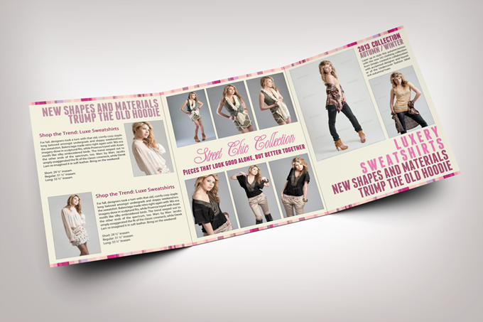 fashion tri fold brochure graphicriver print templates. Black Bedroom Furniture Sets. Home Design Ideas