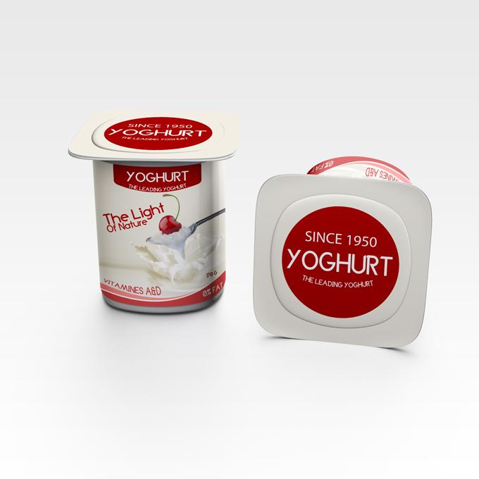 Yogurt packaging Mockup