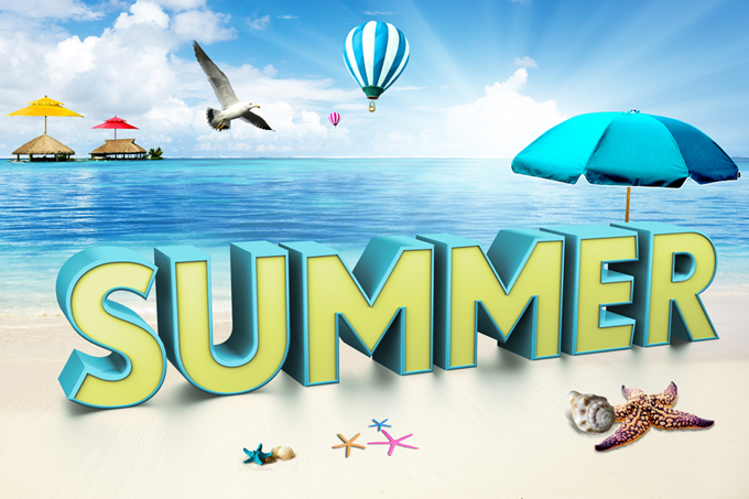 3D Render of a Summer Word
