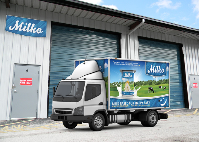 Lorry Branding Mock-Up