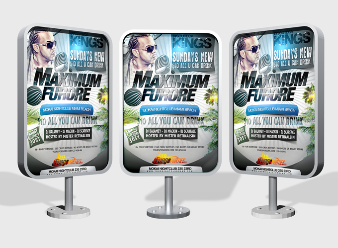 Outdoor Advertising Displays Mock-up