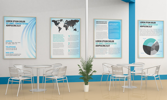 Small Exhibition Stand Mockup : Exhibition stand design mock up graphicriver
