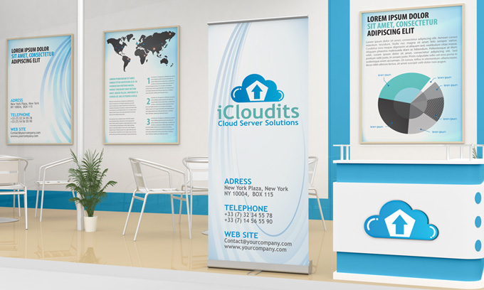Exhibition Stand Design Mockup Free Download : Exhibition stand design mock up graphicriver