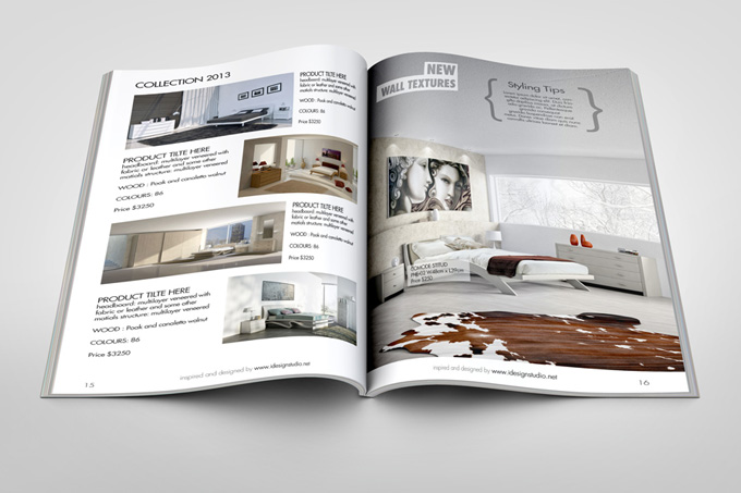 Photorealistic Brochure / Magazine Mock-up