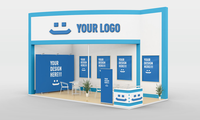 Free Pop Up Exhibition Stand Mockup : Exhibition stand design mock up graphicriver