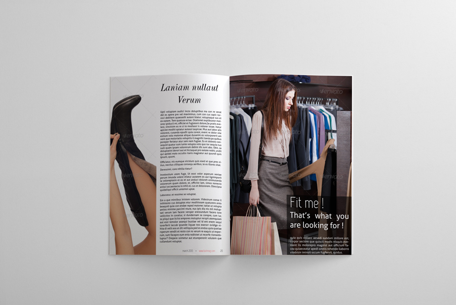 24 Pages Fashion Magazine Template