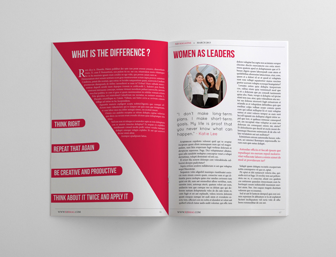 Business magazine template 24 pages magazines for Magazine templates for pages