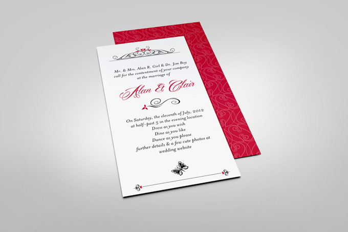 Dl invitation card mock up graphicriver dl invitation card mock up stopboris Gallery