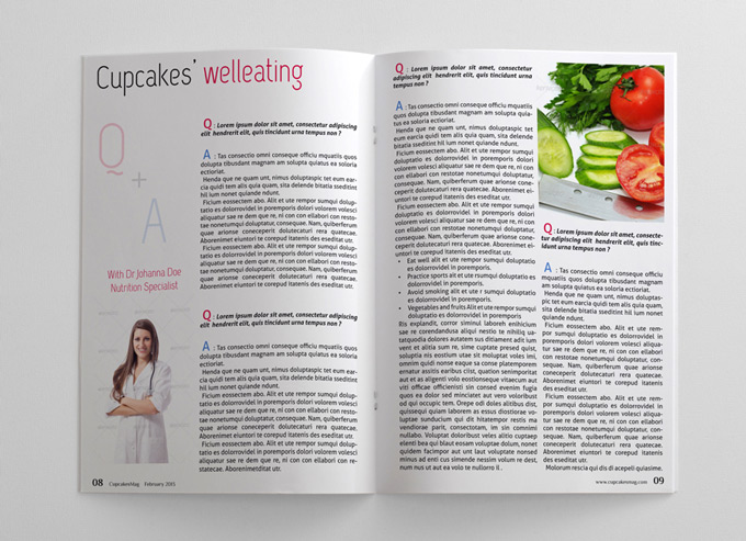 Food magazine template 48 pages magazines for Magazine templates for pages
