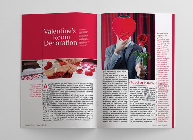 Valentine Magazine Template 24 Pages | Magazines