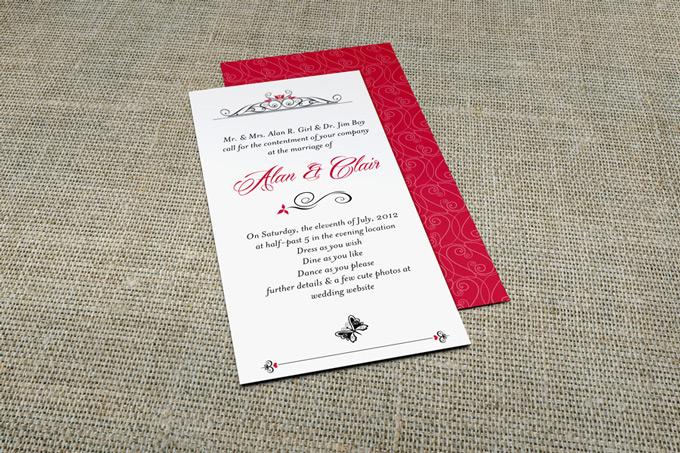 DL Invitation Card Mock-Up