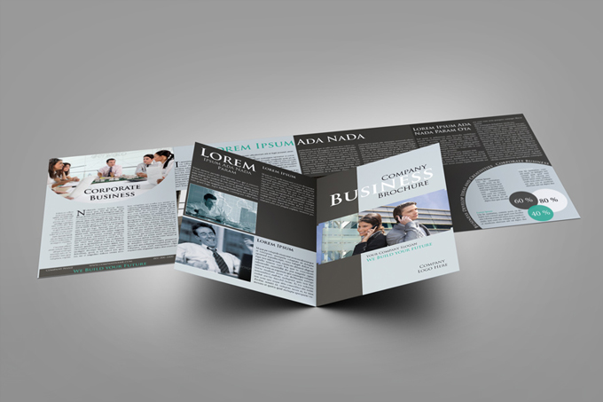 4xA4 Brochure Mock-up