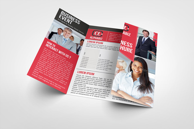 "Business Brochure Gate Fold Template ""AlphaBiz"""