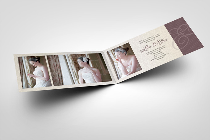 Dl folded invitation card mock up graphicriver mock up for Wedding invitation templates dl size