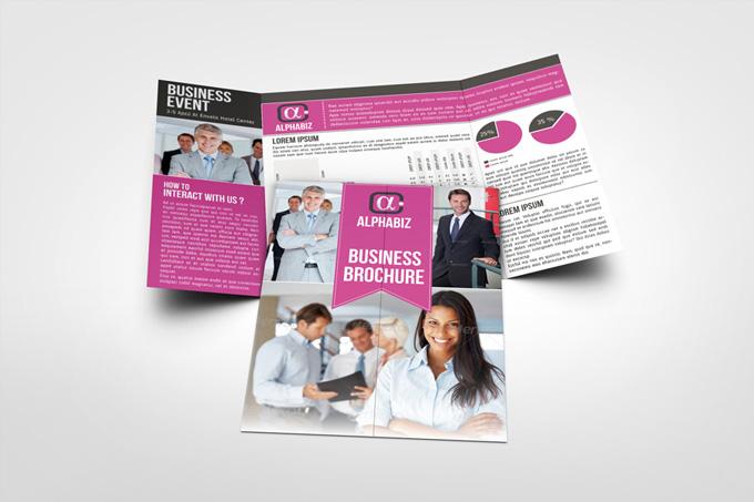 "Business Brochure Gate Fold Template ""AlphaBiz"""