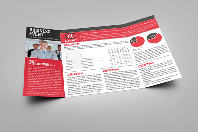 Gate Fold Brochure Mock Up