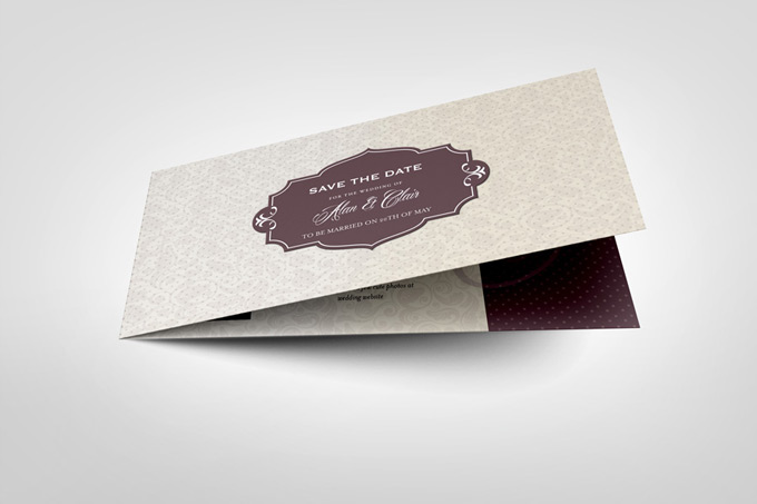 DL Folded Invitation Card Mock-up : Graphicriver - Mock-up