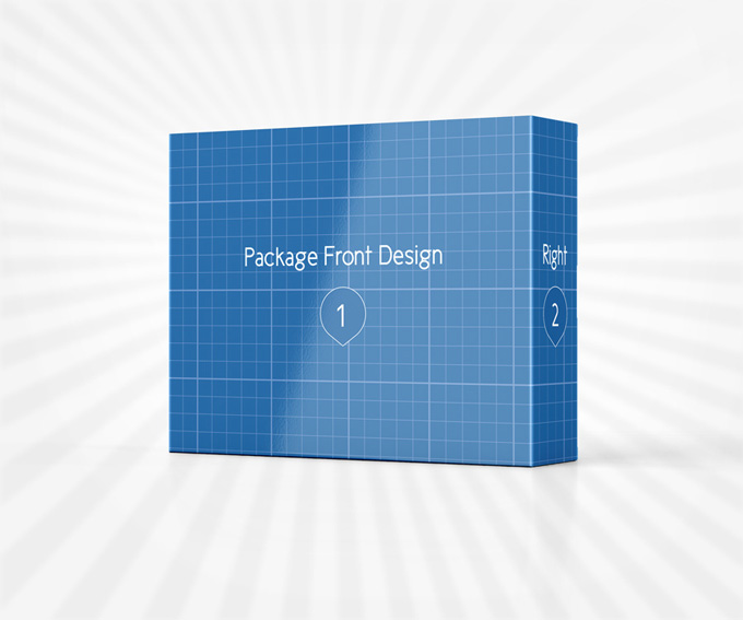 Product Package Display Mockup