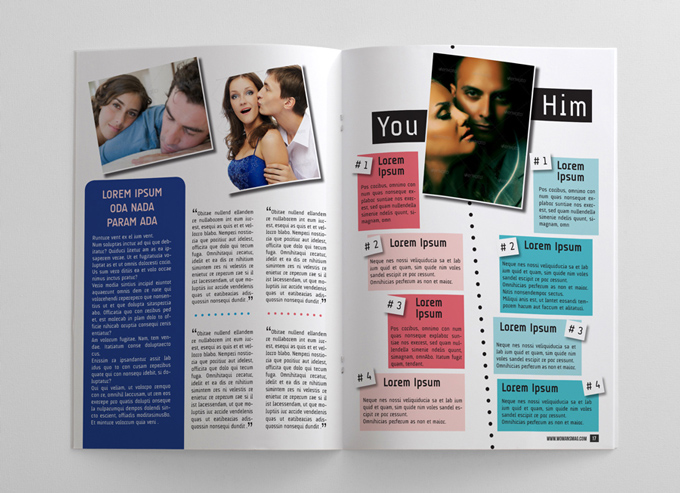 24 Pages Woman's Magazine Template