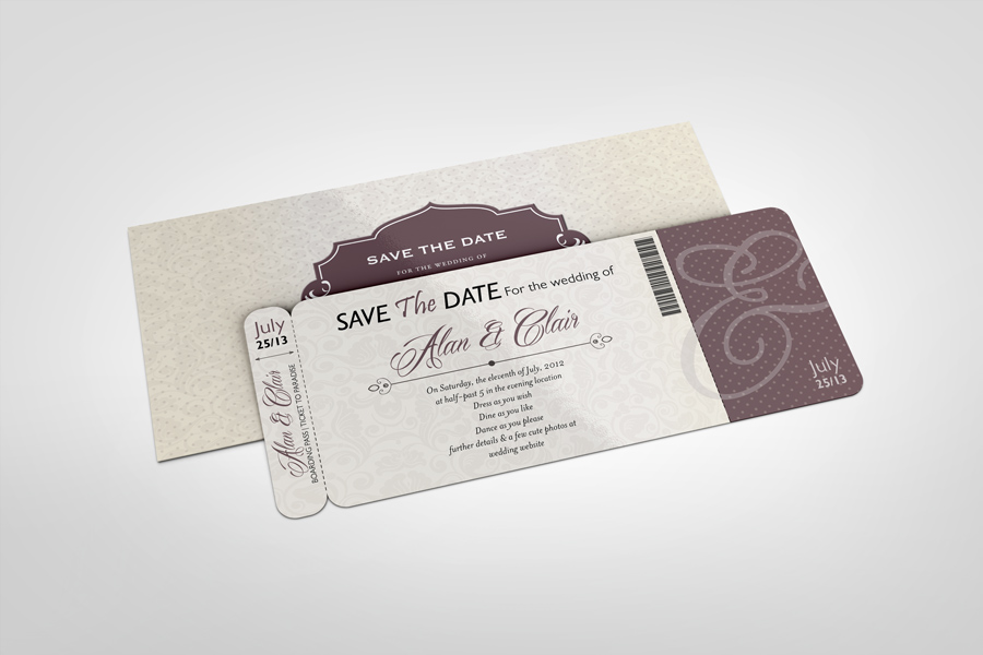 Boarding Pass Invitations Mock Up Graphiccriver