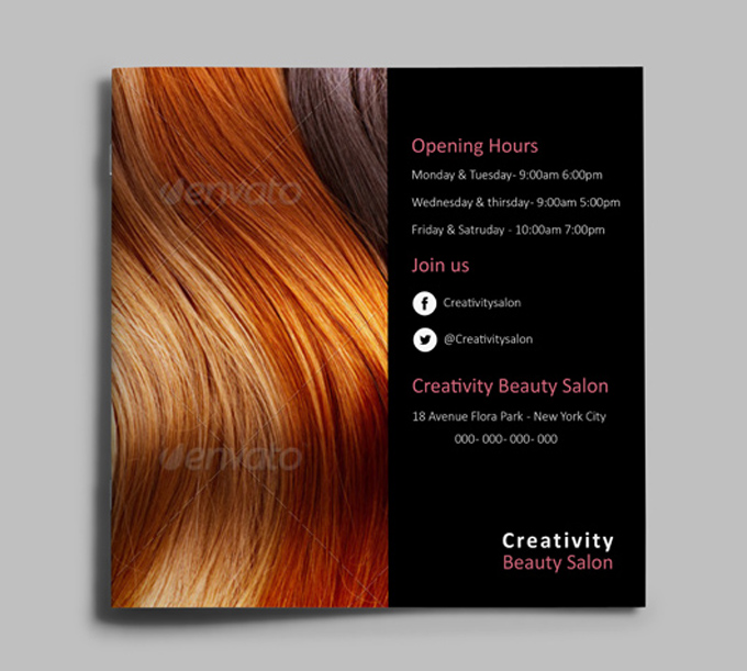 Hair Style Catalog Template