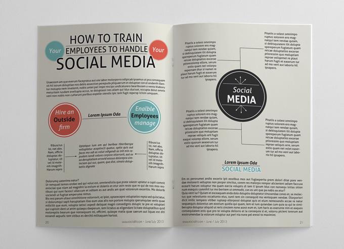 Social Media Magazine Template