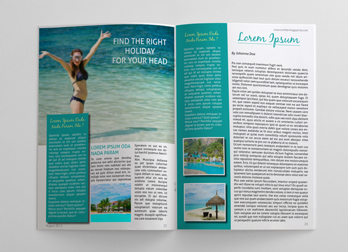 Summer Holidays Magazine Template