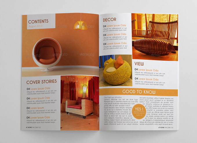 Interior Design Magazine Template Graphicriver Print Templates