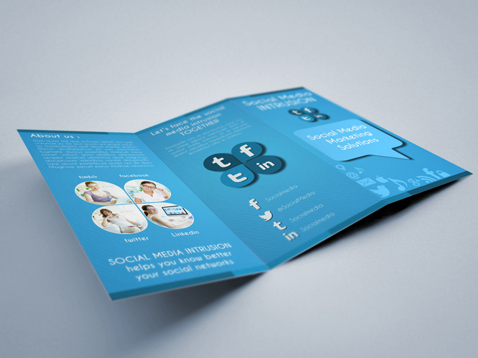Social Media Trifold Brochure Template Graphicriver Print Templates - 3d brochure template