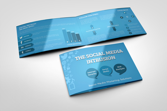 Social Media Bi Fold Brochure Template ipBBwVQy