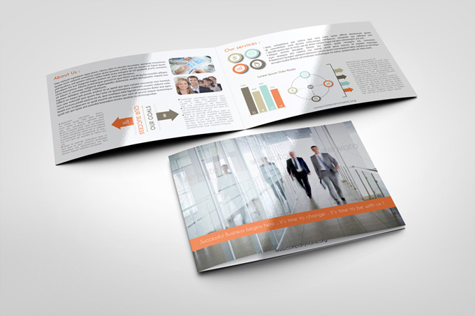 Corporate bi fold brochure template graphicriver print for Indesign bi fold brochure template