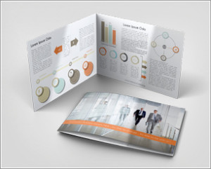 Landscape Bi-Fold Brochure Mock-Up