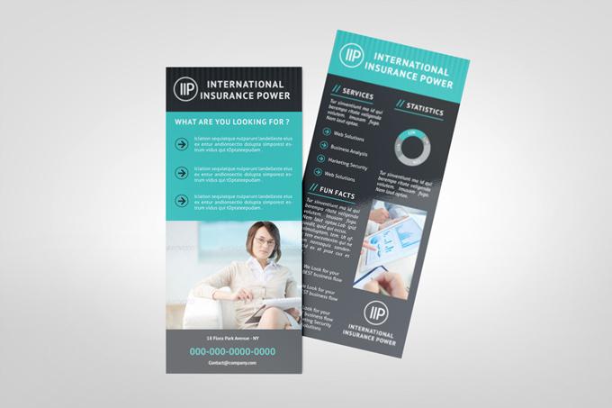 business rack card template graphicriver print templates. Black Bedroom Furniture Sets. Home Design Ideas