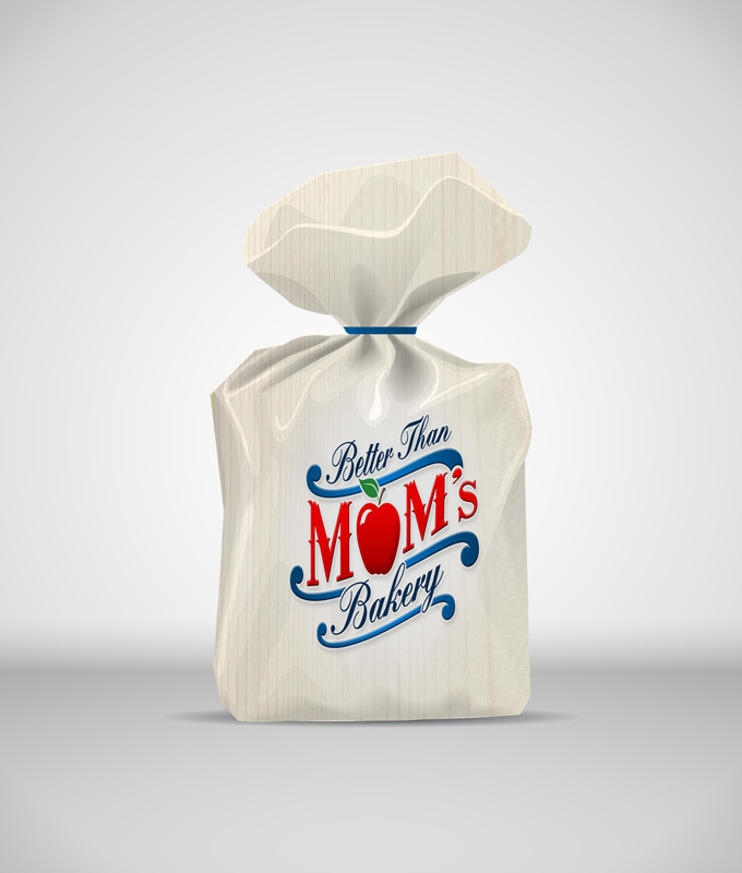 Bread Paper Bag Mock-up