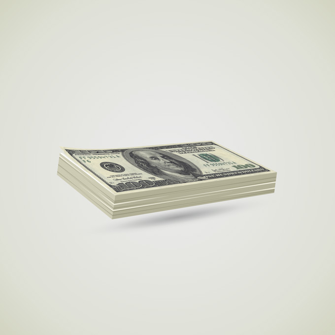 Money Bills stacks Mock-up