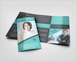 Tri fold Brochure Mock-Up