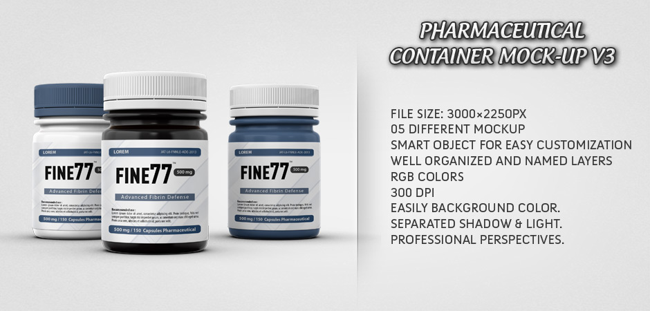 Pharmaceutical Container Mock-Up V3
