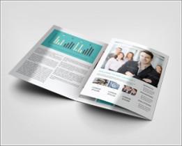 3xA4 Trifold Brochure Mock-Up
