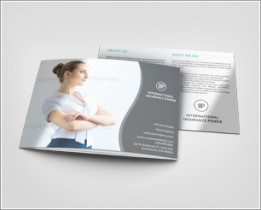3xA5 Trifold Brochure Mock-up Landscape