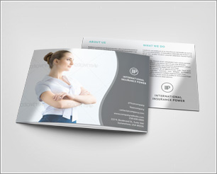 3xA5 Trifold Brochure Mock-up
