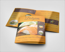 Half Fold Menu Mock-up 14×8.5 inches