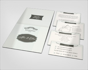 Pocket Wedding Invitation Mock-up